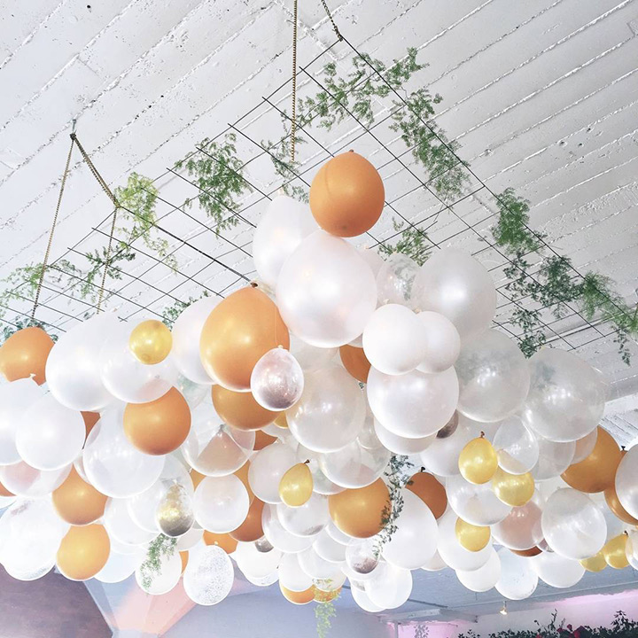 wedding planning design decor unique ceremony reception venue balloons fun love bride groom engagement vows alter tradition married garland greenery party decor event