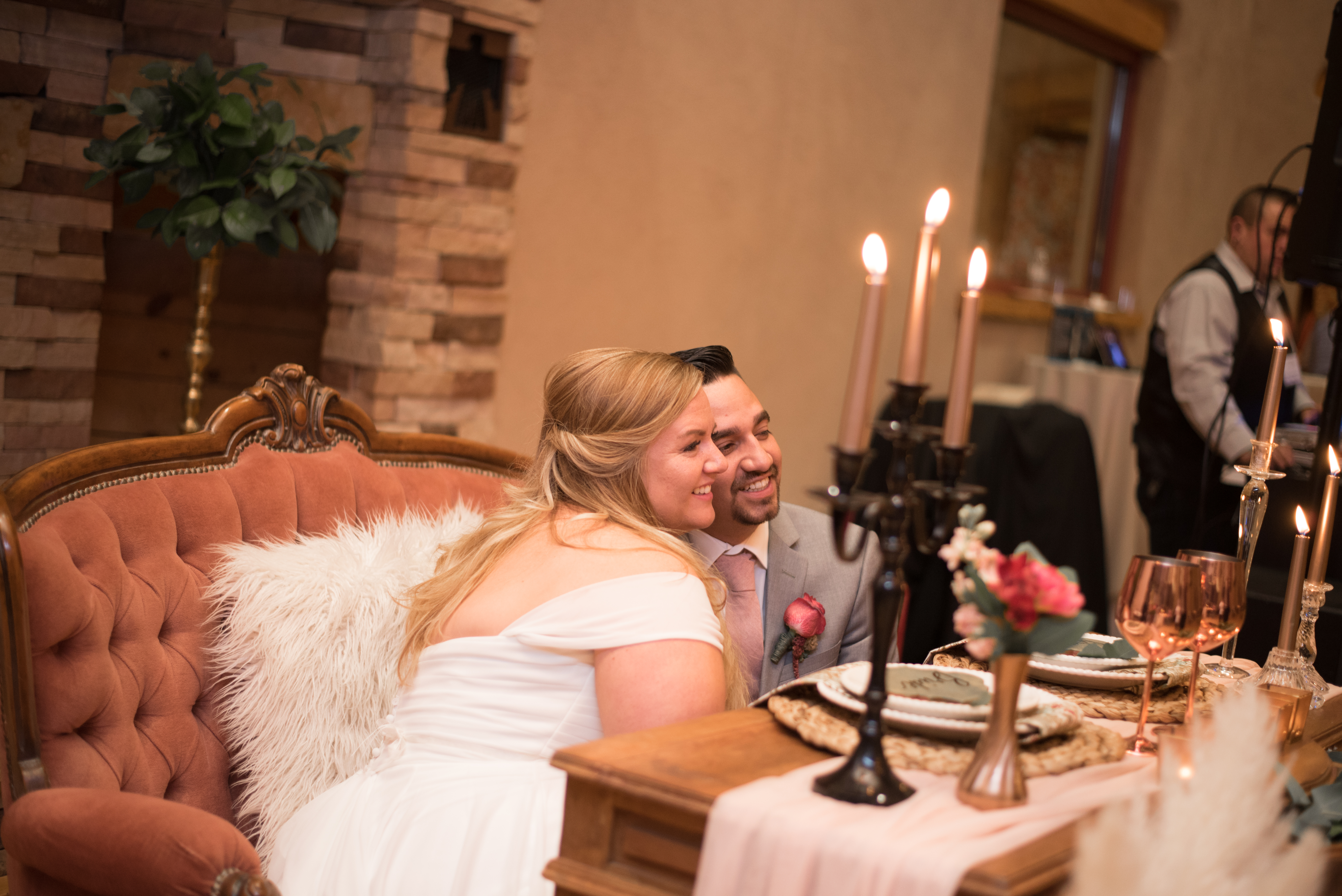bride, groom, reception, wedding reception venues new mexico, hotel andaluz, for the love of flowers, new mexico weddings