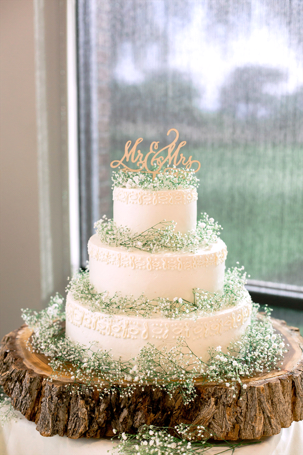 white wedding cake, baby's breath cake, pretty cake, forest cake, new mexico wedding cake