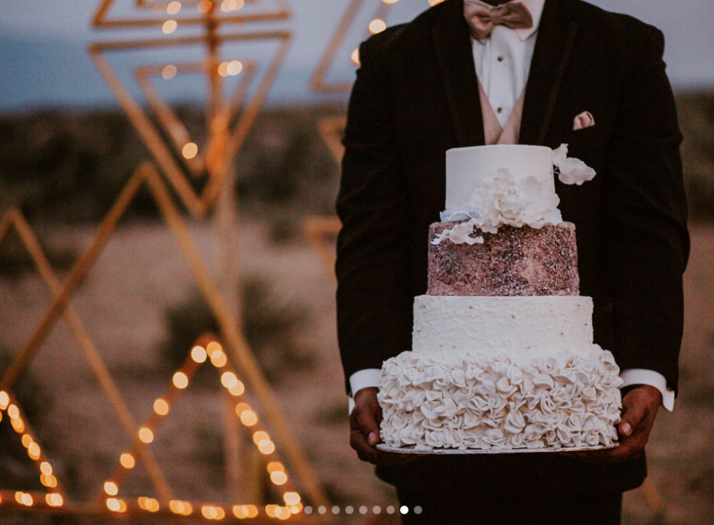 jasper k. photography, new mexico wedding cake, southwestern wedding cake, purple cake